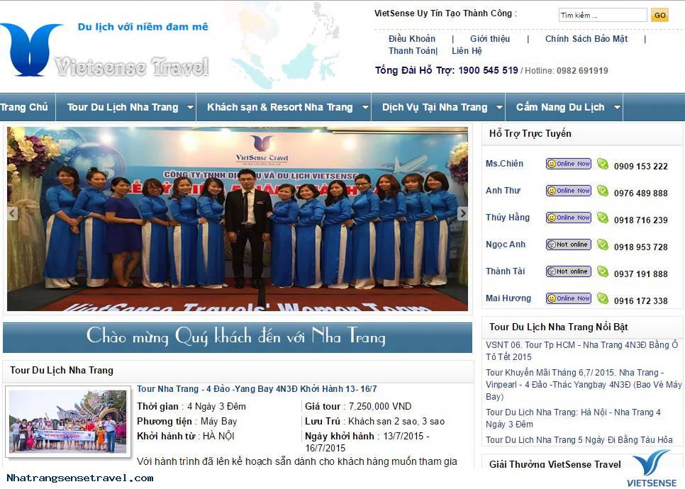 Giới Thiệu Về Trang Website Nhatrangsensetravel.com